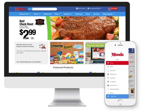 woods website welcome computer and smartphone