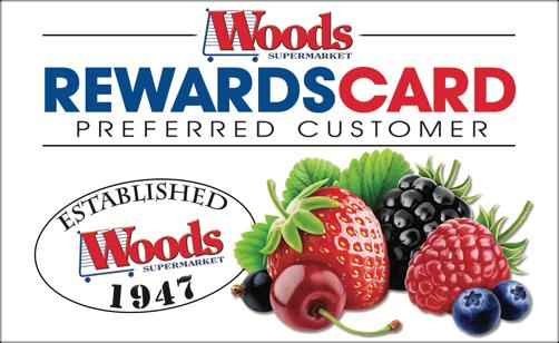 Woods Reward Card