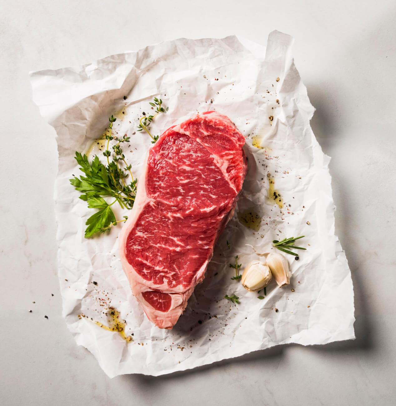 Seasoned Kansas City Strip Steak